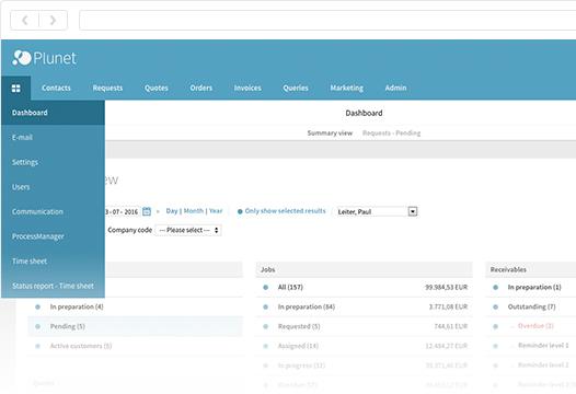 Plunet translation management systems_dashboard
